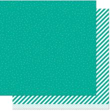 Lawn Fawn Let It Shine Paper 12X12 - Teal Sprinkle