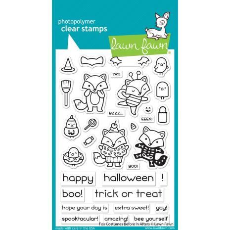 Lawn Fawn Clear Stamps 4X6 - Fox Costumes Before n Afters