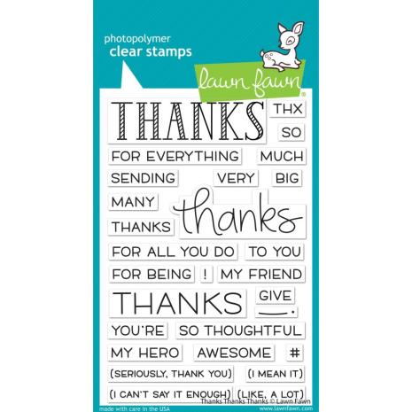 Lawn Fawn Clear Stamps 4X6 - Thanks Thanks Thanks
