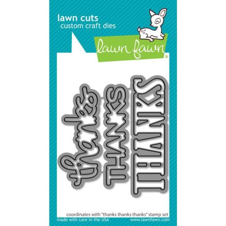 Lawn Fawn Dies - Thanks Thanks Thanks