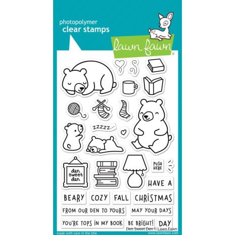 Lawn Fawn Clear Stamps 4X6 - Den Sweet Den
