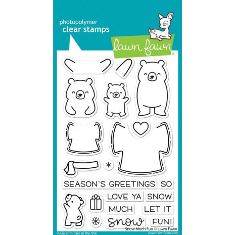 Lawn Fawn Clear Stamps 4X6 - Snow Much Fun