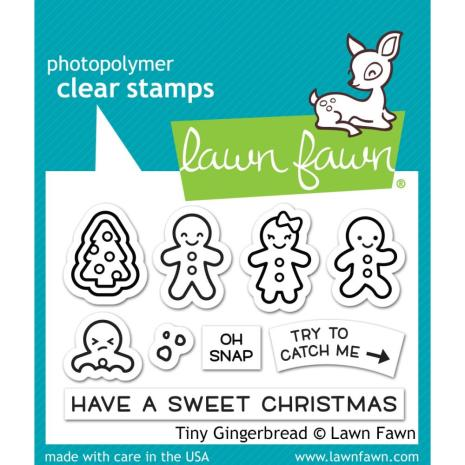 Lawn Fawn Clear Stamps 3X2 - Tiny Gingerbread