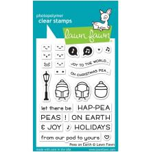 Lawn Fawn Clear Stamps 3X4 - Peas On Earth