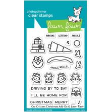 Lawn Fawn Clear Stamps 3X4 - Car Critters Christmas Add-On