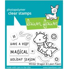 Lawn Fawn Clear Stamps 3X2 - Winter Dragon