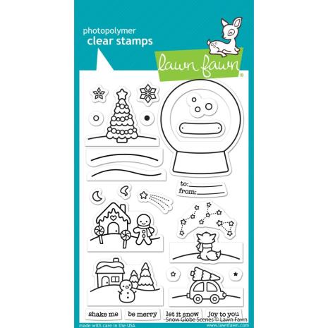 Lawn Fawn Clear Stamps 4X6 - Snow Globe Scenes