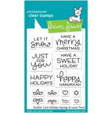 Lawn Fawn Clear Stamps 3X4 - Shutter Card Holiday Sayings