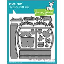 Lawn Fawn Dies - Shadow Box Card Fireplace Add-On