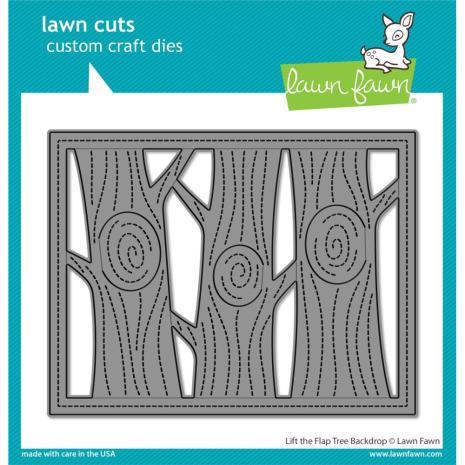 Lawn Fawn Dies - Lift The Flap Tree Backdrop