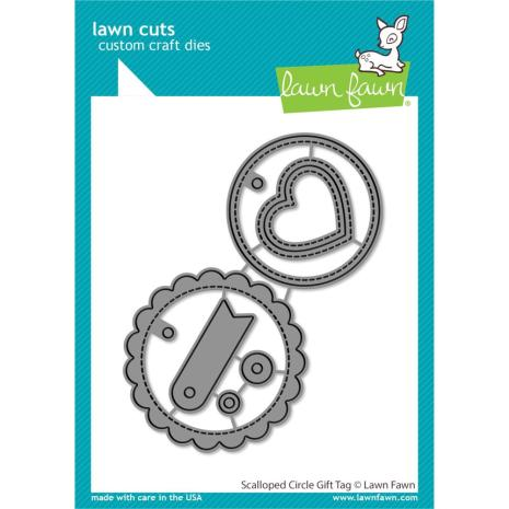Lawn Fawn Dies - Scalloped Circle Gift Tag