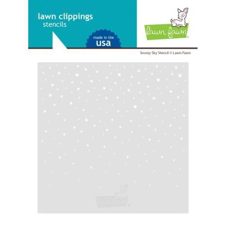 Lawn Fawn Stencils - Snowy Sky