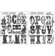 Tim Holtz Cling Stamps 7X8.5 - Cirque Alphabet