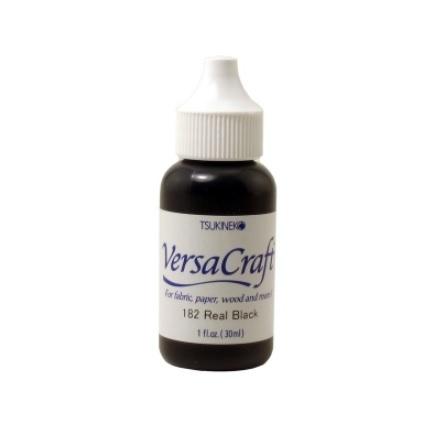 VersaCraft Ink Refill 30ml - Real Black