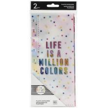 Me & My Big Ideas CLASSIC Half Sheet Plastic Envelopes 2/Pkg - Life Is A Million Colors