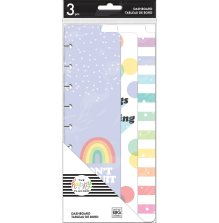 Me & My Big Ideas CLASSIC Skinny Happy Planner Dashboards - Rainbow