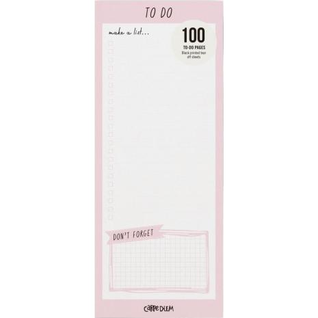 Carpe Diem Magnetic To Do List - Ballerina Pink