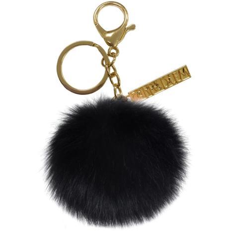 Carpe Diem Pom Pom Keyring - Black