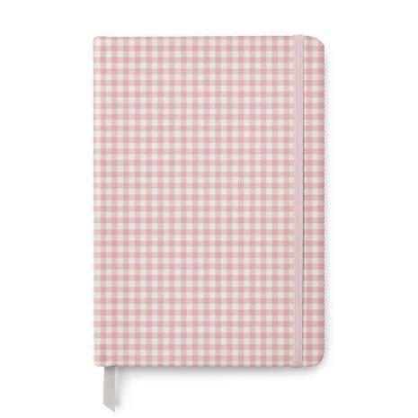 Carpe Diem Softcover Journal 96/Sheets - Ballerina Pink Check