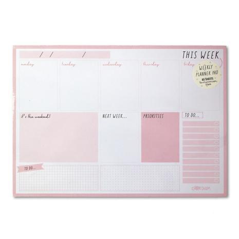 Carpe Diem Weekly Planner Pad A4 60/Pkg - Ballerina Pink