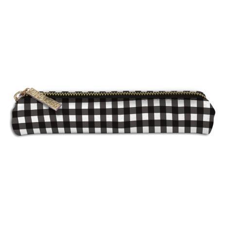 Carpe Diem Slim Pencil Case - Buffalo Check
