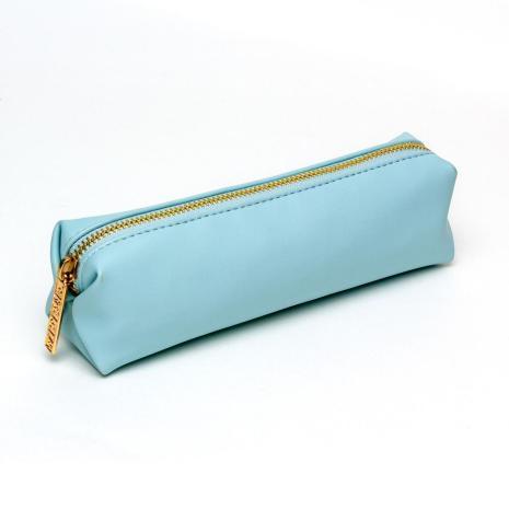 Carpe Diem Slim Pencil Case - Sky Blue