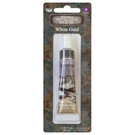 Prima Finnabair Wax Paste Metallique 20ml - White Gold