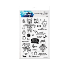 Simon Hurley create. Clear Stamps 6X9 - Trick or Treat