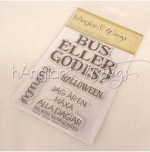 hÄnglar & Wings Clear Stamps - Stora texter Halloween A7