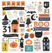 Crate Paper Chipboard Stickers 12X12 - Hey, Pumpkin