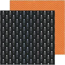 Crate Paper Hey, Pumpkin Foiled Cardstock 12X12 - Moonlit