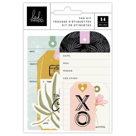 Heidi Swapp Tag Set 14/Pkg - Old School
