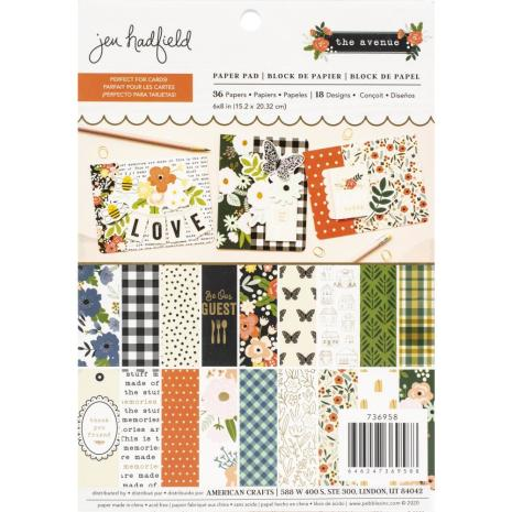Jen Hadfield Paper Pad 6X8 36/Pkg - The Avenue