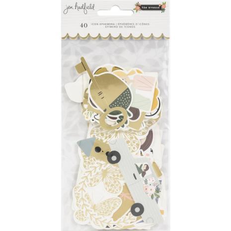 Jen Hadfield Ephemera Cardstock Die-Cuts 40/Pkg - The Avenue Icons
