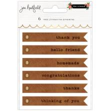 Jen Hadfield Embossed Faux Leather Tags 6/Pkg - The Avenue