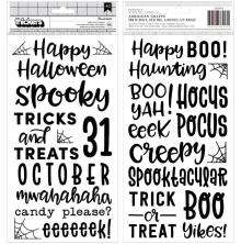 Pebbles Spoooky Thickers Stickers 5.5X11 - Phrase