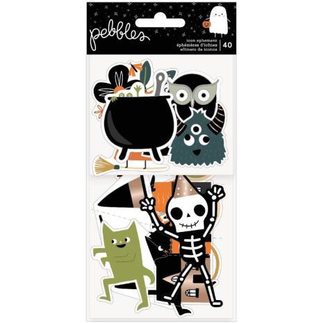 Pebbles Ephemera Cardstock Die-Cuts 40/Pkg - Spoooky Icons