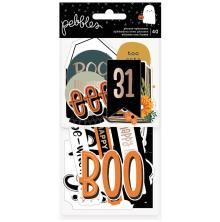 Pebbles Ephemera Cardstock Die-Cuts 40/Pkg - Spoooky Phrase