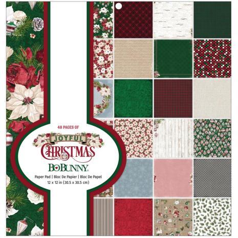 BoBunny Paper Pad 12X12 48/Pkg - Joyful Christmas