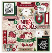 BoBunny Chipboard Stickers 12X12 - Joyful Christmas
