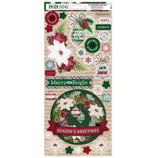 BoBunny Cardstock Stickers 6X12 - Joyful Christmas