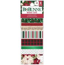 BoBunny Washi Tape 8/Pkg - Joyful Christmas