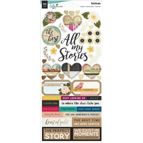 Vicki Boutin Cardstock Stickers 93/Pkg - Storyteller