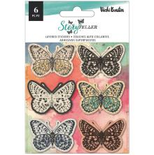 Vicki Boutin Layered Stickers 6/Pkg - Storyteller