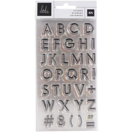 Heidi Swapp Clear Stamps - Old School Alphas