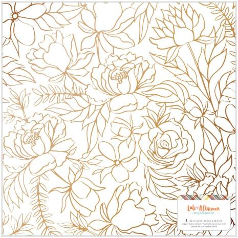 Amy Tangerine Specialty Paper 12X12 - Late Afternoon Vellum