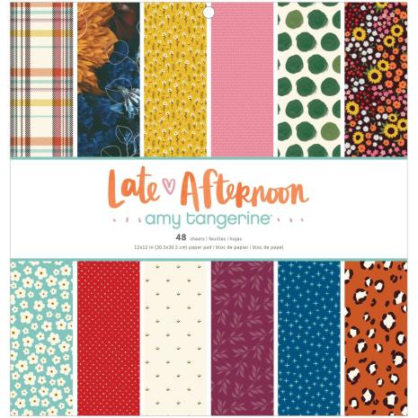 Amy Tangerine Single-Sided Paper Pad 12X12 - Late Afternoon