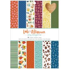 Amy Tangerine Single-Sided Paper Pad 6X8 - Late Afternoon