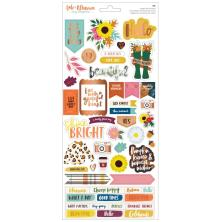 Amy Tangerine Cardstock Stickers - Late Afternoon