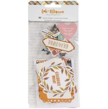 Amy Tangerine Ephemera Die-Cuts 40/Pkg - Late Afternoon